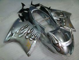 Honda CBR 1100XX BLACKBIRD 1996-2007 - Black Flame - Silver Injection ABS Fairing