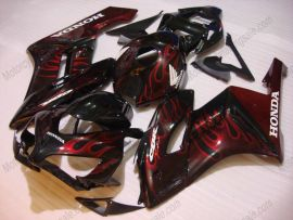 Honda CBR1000RR 2004-2005 - Flame - Black/Red Injection ABS Fairing