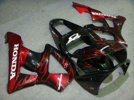 Honda CBR900RR 929 2000-2001 - Red Flame - Black ABS Fairing