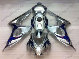 Honda CBR1000RR 2006-2007 - Blue Flame - Silver Injection ABS Fairing