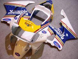 Honda CBR900RR 919 1998-1999 - Rothmans - White/Yellow/Blue ABS Fairing